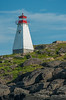 The Boars Head lighthouse near the fishing village of Tiverton on Long Island,  Digby Neck