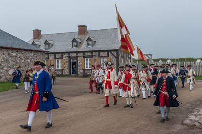 Images from the re-enactment of the 250th anniversary of the 1758 siege of Louisbourg at Fortress Louisbourg National Historic Site on Cape Breton Island
