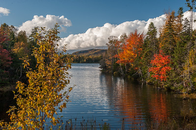 Autumn scene on the Bras d'Or lake at West Orangedale