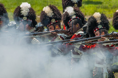 The 78th Highlanders from Halifax Citadel National Historic Site perform rife drill at the annual Celtic Festival on the Garrison Grounds in Halifax