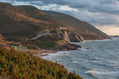 View from a lookoff in Cape Breton Highlands National Park north of the Acadian community of Cheticamp