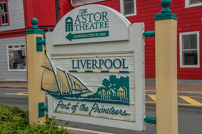 Signage along  Main Street in the Southshore town of Liverpool.