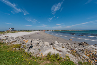 Panoramic views of Crescent Beach in the town of Lockeport on the Southshore of Nova Scotia