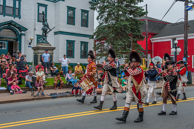 The Privateer Days parade along Main Street in the town of Liverpool