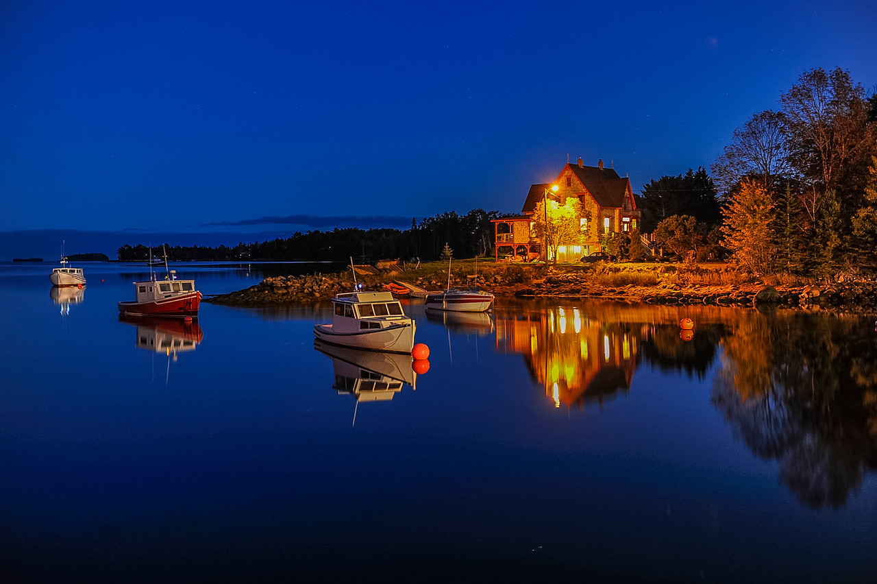 Night scenes at Chester Basin on the Southshore