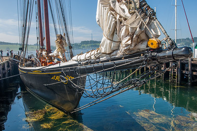 Bluenose Ii at dockside in the town of Lunenburg