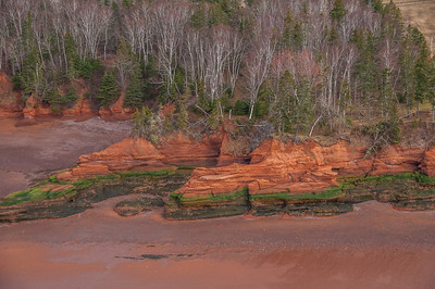 Aerial views of the shore of the upper Bay of Fundy. See GPS coordinates for exact locations