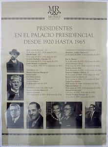 Liste des présidents ayant occupé le Palais Présidentiel de 1920 à 1965