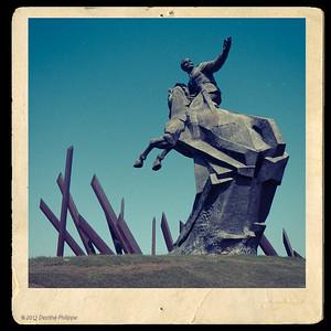 Monument équestre d'Antonio Maceo sis place de la Révolution à Santiago de Cuba