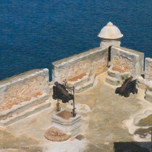 Les remparts du Château de San Pedro de la Roca