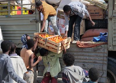 Cagettes de tomates éthiopiennes