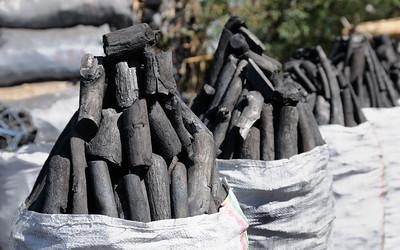 Sacs de charbon de bois