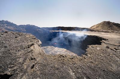 Bord du cratère sud de l'Erta Alé