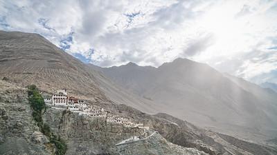 Diskit Monastery seen from the statue of Jampa (Maitreya) Buddha