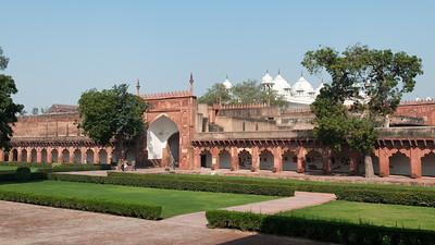 Jardins du Fort Rouge à Agra.