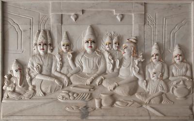 Temple de Lakshmi-Narayan dédié à Vishnou (Narayan) le conservateur et son épouse Lakshmi, déesse de la richesse. Ce temple hindouiste en marbre blanc de la meilleure qualité, domine la partie sud de Jaipur.