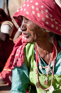 Portrait de femme bishnoï