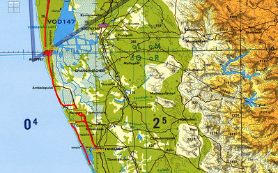 South India 2009 - Map