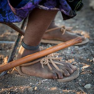 Shoes made of giraffe skin