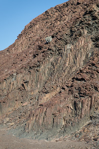 Houab river - Organ pipes Doleritic magma columns