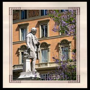 Statue de Pietro Metastasio 1698-1782