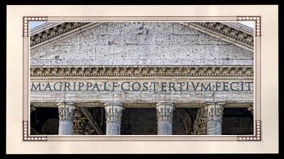 Fronton du Panthéon de Rome