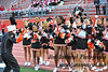 White Plains (NY) High School cheerleaders performing at a home game vs. North Rockland.