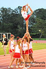 North Rockland (NY) High School cheerleaders performing at a football game in White Plains, NY