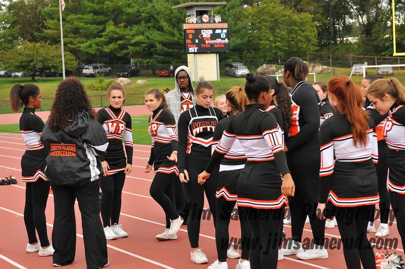 Cheerleaders at Varsity Football Game: White Plains High School vs. John Jay Fishkill, September 29, 2012