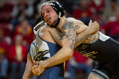 Scene from NCAA wrestling meet between Chattanooga and Iowa State at Hilton Coliseum in Ames, Iowa on December 14, 2019. Photo © Wesley Winterink.