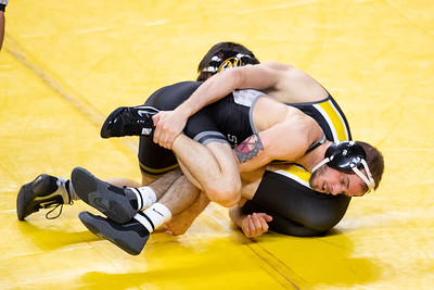 Image from Iowa State wrestling meet at Hilton Coliseum in Ames, Iowa on January 17, 2021 . Photos © Wesley Winterink.