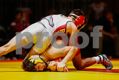 Scene from NCAA wrestling meet between Rider and Iowa State at CY Stephens Auditorium in Ames, Iowa on November 26, 2017. Photo by Wesley Winterink.