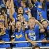 Garner blue crew cheering on the team as Garner runs over Middle Creek 46 to 29 Friday night September 7, 2012. (photo by Jack Tarr)