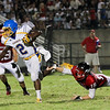 Garner's #2 Nyheim Miller-Hines runs the ball as Garner runs over Middle Creek 46 to 29 Friday night September 7, 2012. (photo by Jack Tarr)