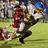 Garner's #2 Nyheim Miller-Hines crosses the goal linel as Garner runs over Middle Creek 46 to 29 Friday night September 7, 2012. (photo by Jack Tarr)