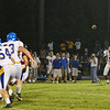 Garner's #15 Armani Lanier catches a pass in the open field as Garner runs over Middle Creek 46 to 29 Friday night September 7, 2012. (photo by Jack Tarr)