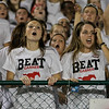 Middle Creek fans cheer on the home team as Garner runs over Middle Creek 46 to 29 Friday night September 7, 2012. (photo by Jack Tarr)