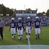 Clayton Captains take the field as Clayton Steamrolls South Johnston 41 to 14 Thursday night August 30, 2012. (photo by Jack Tarr)