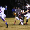 Wakefield's #41 Cody Mailola kicks an extra point as Wakefield survives Wake Forest-Rolesville 40 to 38 in the first round of the 2012 NCHSAA football championship Friday night November 2, 2012. (Photo by Jack Tarr)