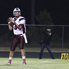 Wakefield's Connor Mitch (3) drops back to pass. Wakefield tames Heritage 42 to 21 Friday night October 26, 2012. (Photo by Jack Tarr)