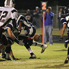 Wakefield's Connor Mitch (3) stretches for the goal line.Wakefield tames Heritage 42 to 21 Friday night October 26, 2012. (Photo by Jack Tarr)