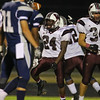 Wakefield's #24 Kamel Bloodworth celebrates his fumble recovery for a touchdown. Wakefield tames Heritage 42 to 21 Friday night October 26, 2012. (Photo by Jack Tarr)