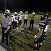 Captains for the coin toss. Wakefield tames Heritage 42 to 21 Friday night October 26, 2012. (Photo by Jack Tarr)