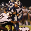 Heritage's Jordan Daniels (13) runs for a couple of yards. Wakefield tames Heritage 42 to 21 Friday night October 26, 2012. (Photo by Jack Tarr)