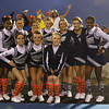 Heritage cheerleaders before the game. Wakefield tames Heritage 42 to 21 Friday night October 26, 2012. (Photo by Jack Tarr)