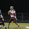 Wakefield's Connor Mitch (3) looks to pass. Wakefield tames Heritage 42 to 21 Friday night October 26, 2012. (Photo by Jack Tarr)