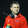 Middle Creek head coach Mike Castellano. Middle Creek rolls over E.E. Smith 56 to 7 Friday night August 30, 2013. (Photo by Jack Tarr)