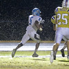 Panther Creek's  Dorrel McClain (5) runs the ball in for a touchdown. Panther Creek rolls over Holly Springs 27 to 0 Friday night November 1, 2013. (Photo by Jack Tarr)