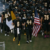 Apex takes the field. Apex defeats Fuquay Varina 45 to 35 Friday night October 3, 2014. (Photo by Jack Tarr/WRAL Contributor)