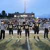 Captains take the field. Apex defeats Fuquay Varina 45 to 35 Friday night October 3, 2014. (Photo by Jack Tarr/WRAL Contributor)